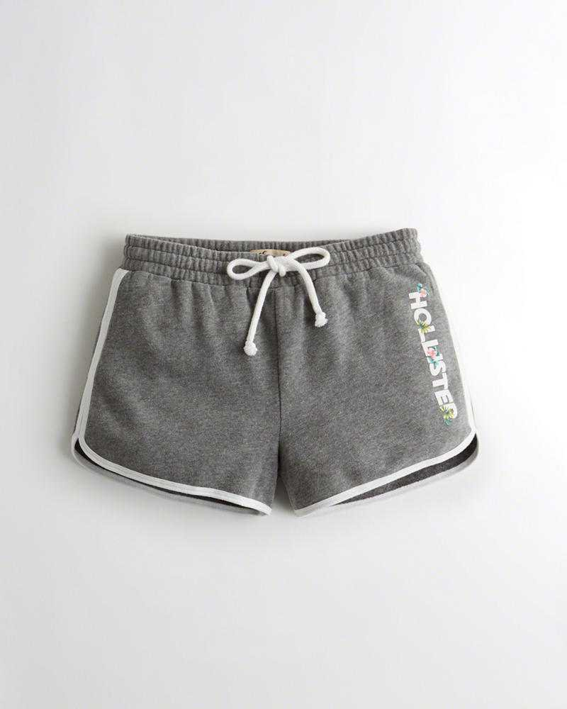 Girls Curved Hem Fleece Shorts | Girls Clearance | HollisterCo.com