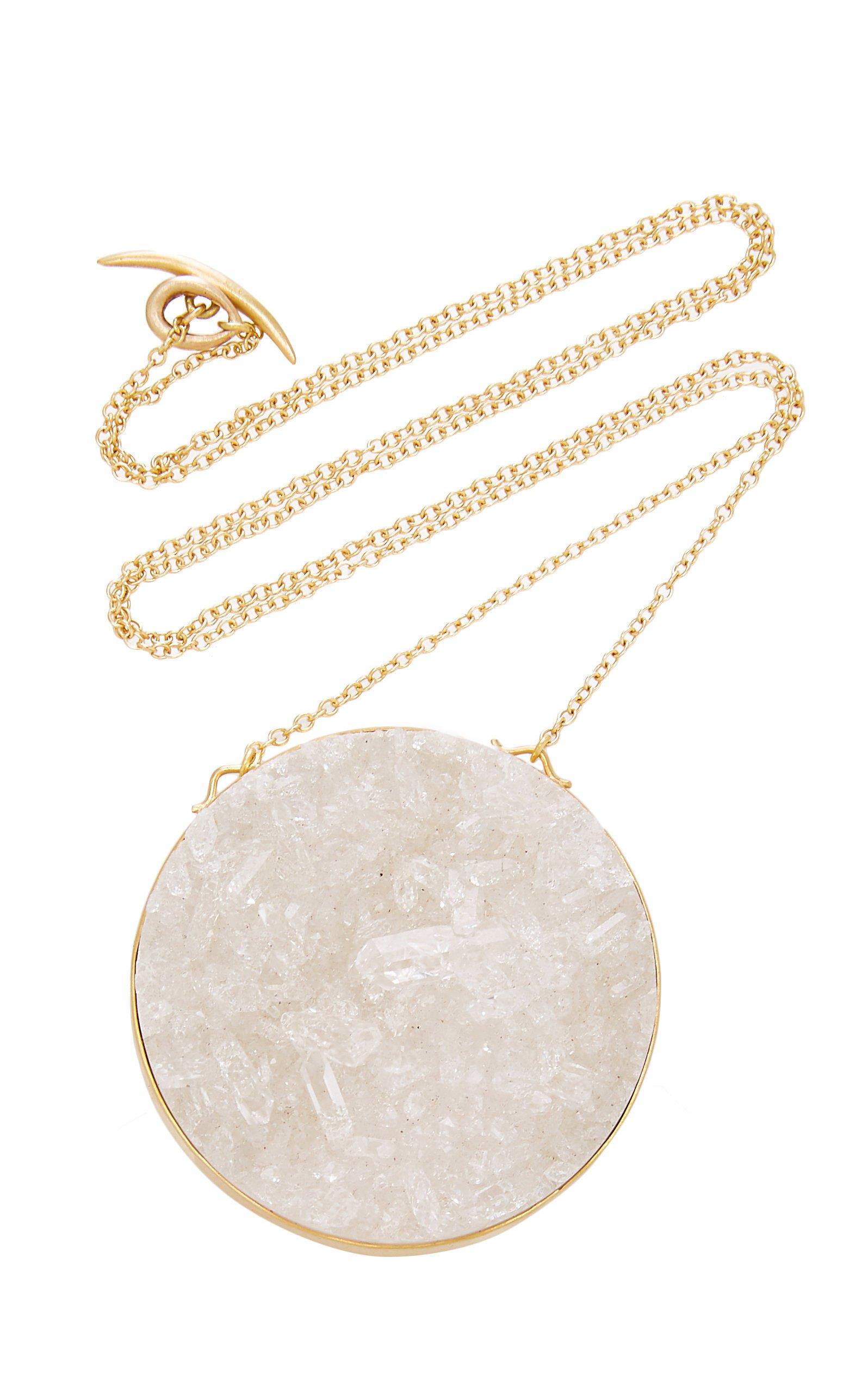 Annette Ferdinandsen Crystal Drusy Luna Pendant