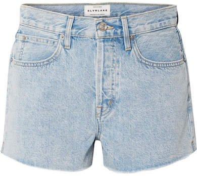 SLVRLAKE - Farrah Frayed Denim Shorts - Light denim