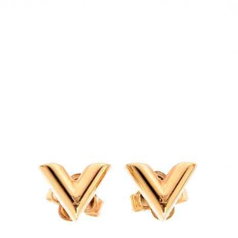 LOUIS VUITTON Essentials V Stud Earrings