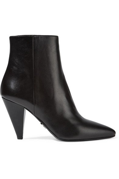 Prada | Leather ankle boots | NET-A-PORTER.COM