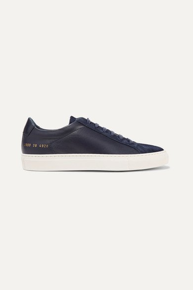 Common Projects | Original Achilles leather and suede sneakers | NET-A-PORTER.COM