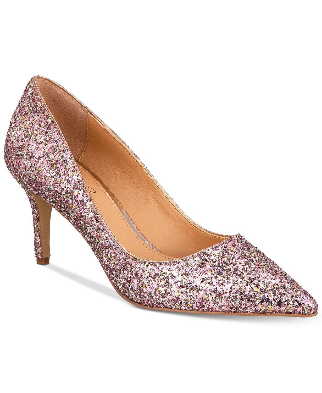 Jewel Badgley Mischka Lyla Glittered Evening Pumps & Reviews - Pumps - Shoes - Macy's