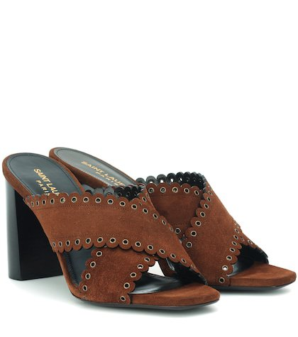 Loulou 95 suede sandals