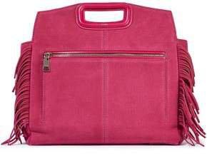 M Walk Fringed Suede Shoulder Bag