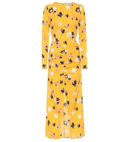 Floral stretch crêpe dress