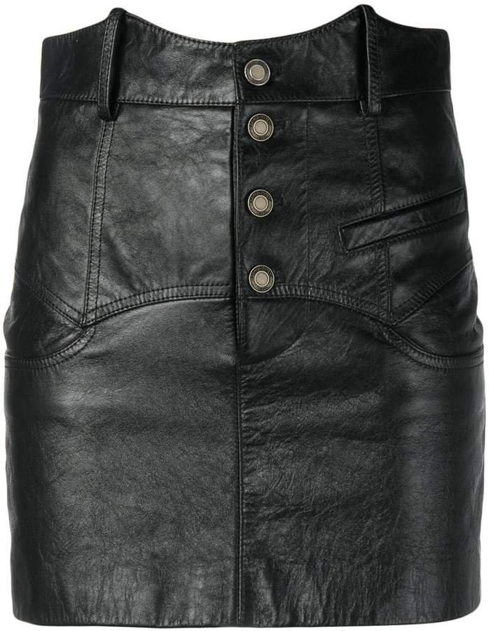 high-waisted mini skirt