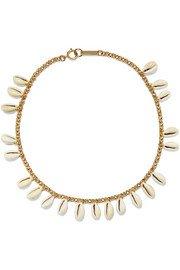 Tohum | Mega Puka gold-plated necklace | NET-A-PORTER.COM