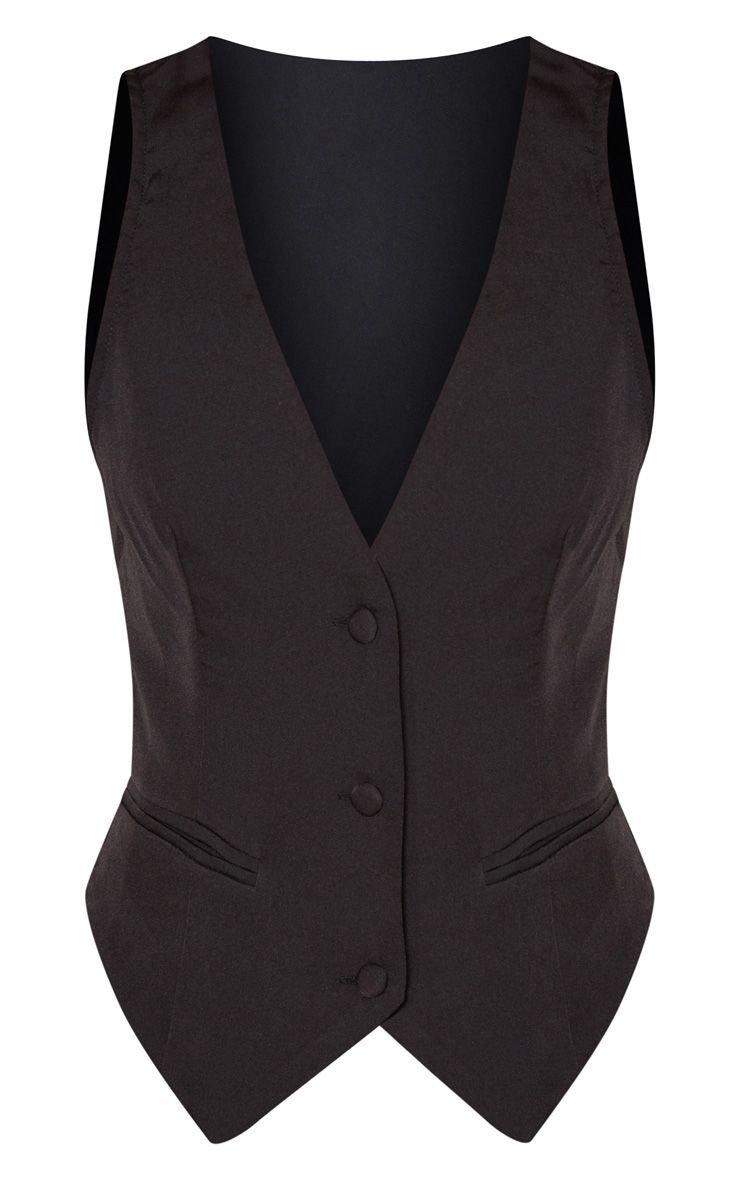 Petite Black Tuxedo Waistcoat | Petite | PrettyLittleThing USA