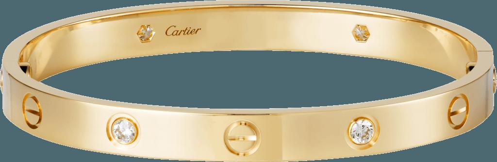 Cartier Love Diamond and Gold Bracelet