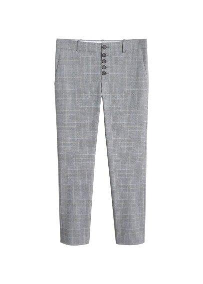 MANGO Buttons cotton trousers