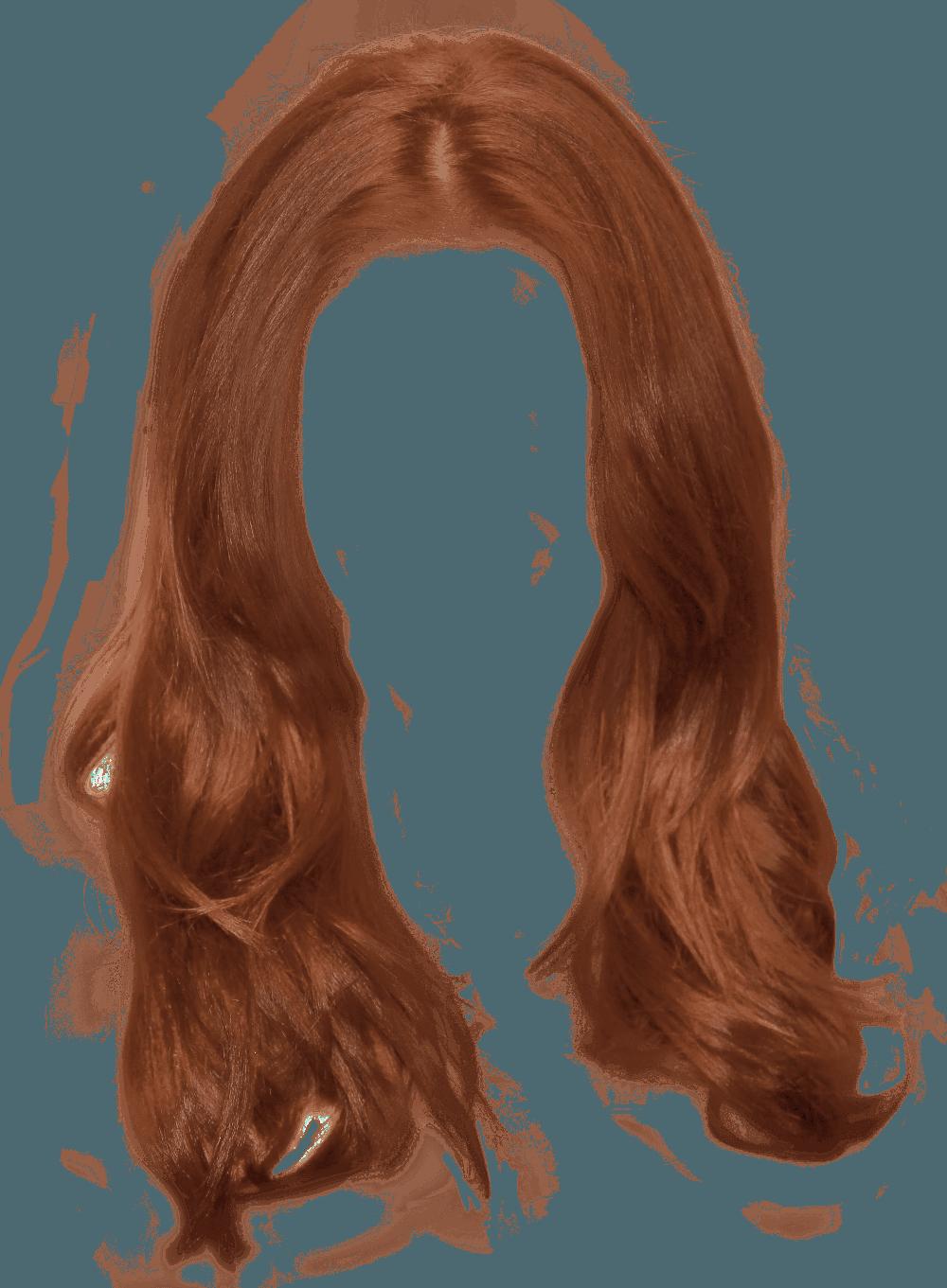 Ginger Long Women Hair transparent PNG - StickPNG