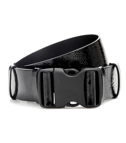 Zayo patent leather buckle belt