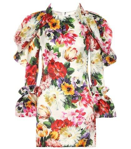 Floral silk minidress