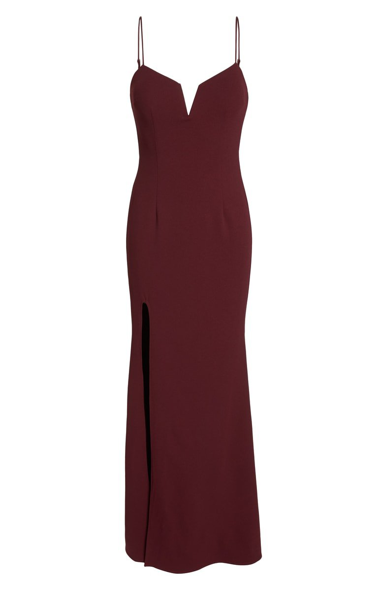Katie May Modern Shaped Neckline Gown | Nordstrom