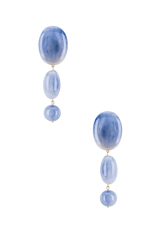 Stone Bubble Drop Earring