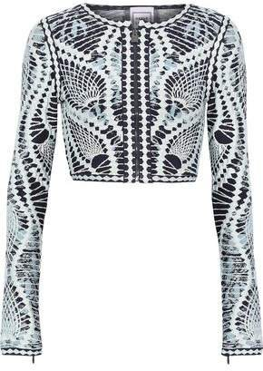 Imogen Cropped Jacquard-knit Top