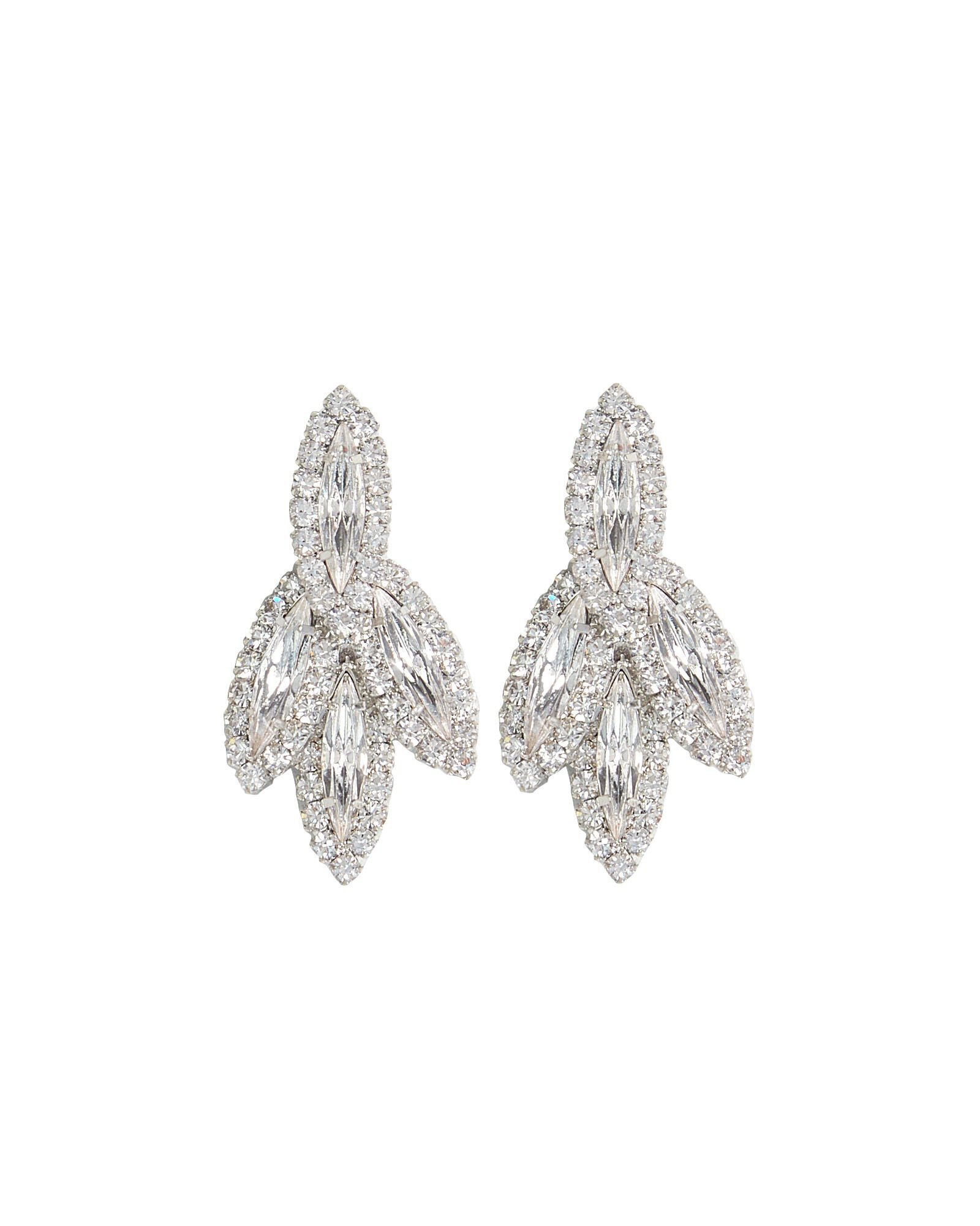 Elizabeth Cole | Petite Bacall Crystal Earrings | INTERMIX®
