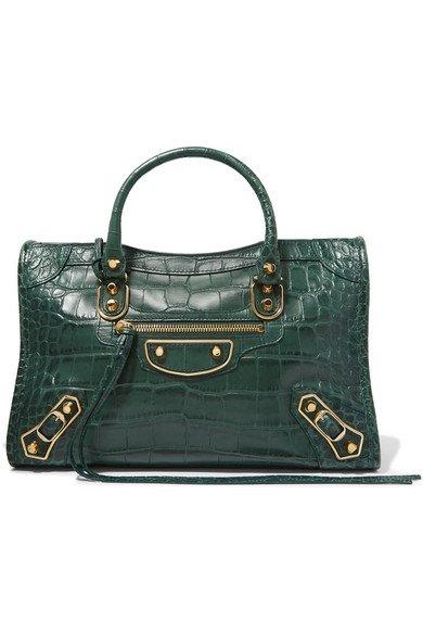 Balenciaga   Classic City small croc-effect leather tote   NET-A-PORTER.COM