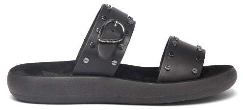 Preveza Leather Sandals - Womens - Black