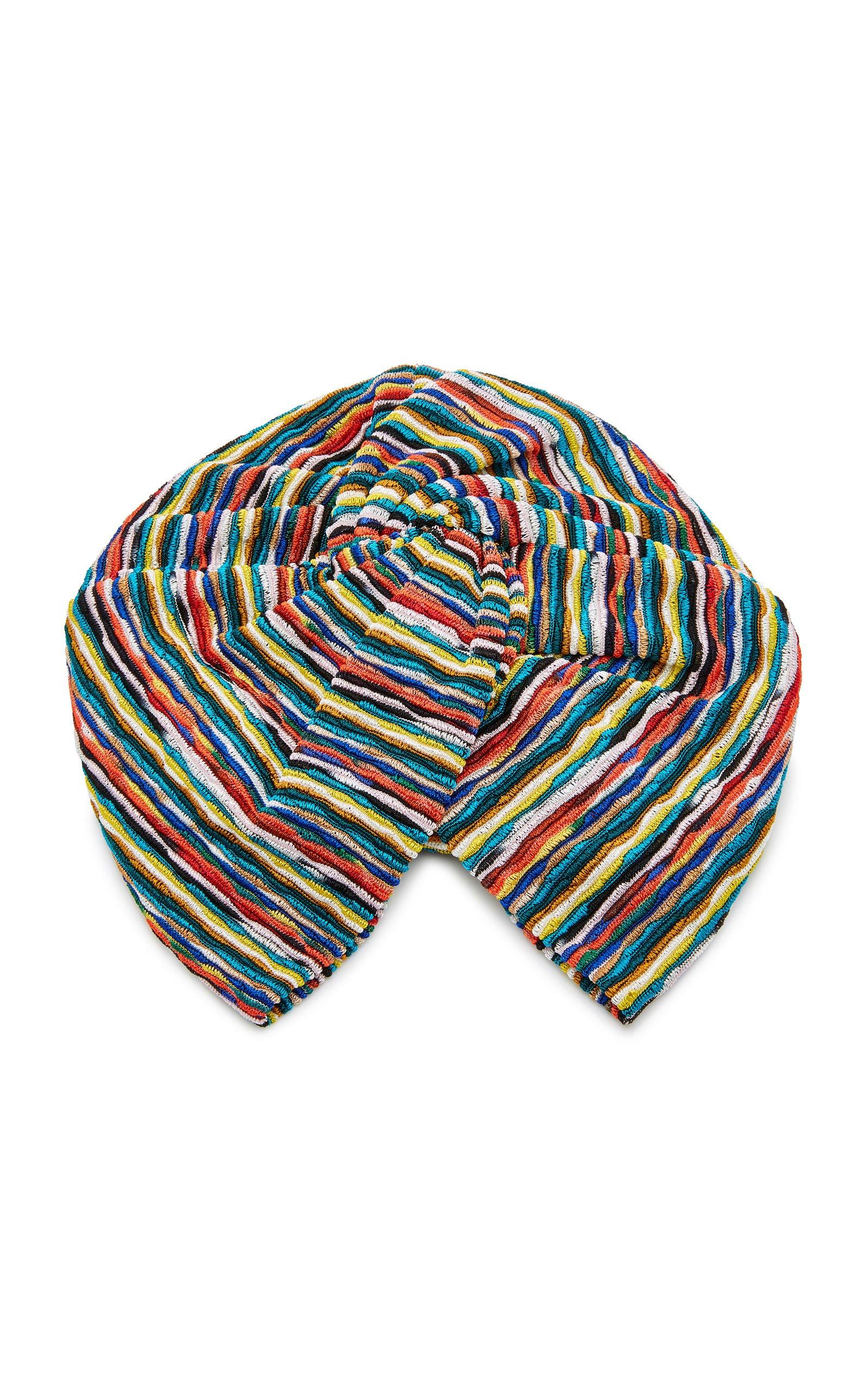 Missoni Mare Striped Crochet-Knit Headwrap