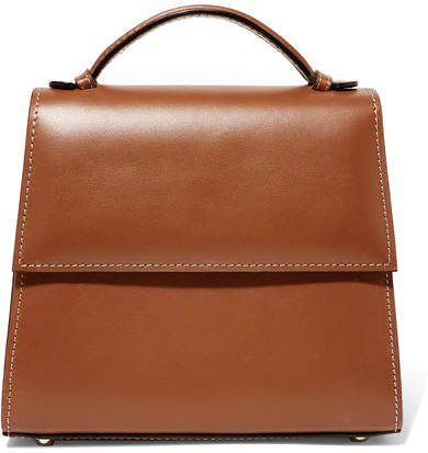 Small Leather Tote - Brown