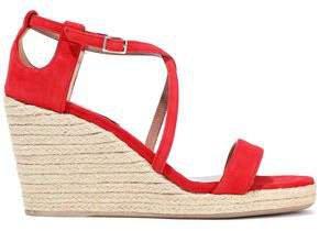 Liu Suede Espadrille Wedge Sandals