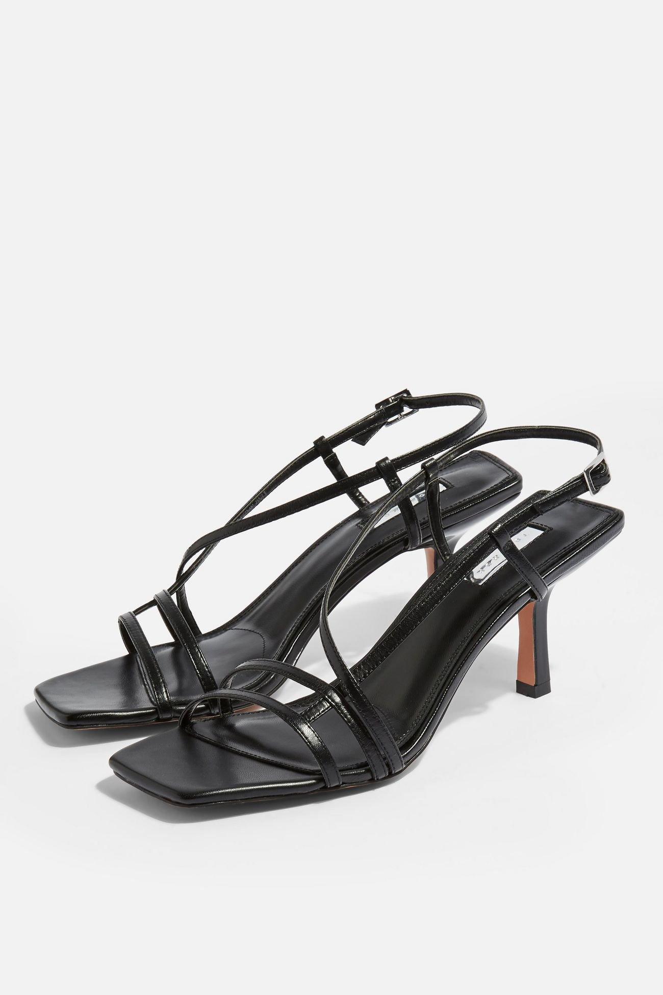 STRIPPY Black Heeled Sandals | Topshop