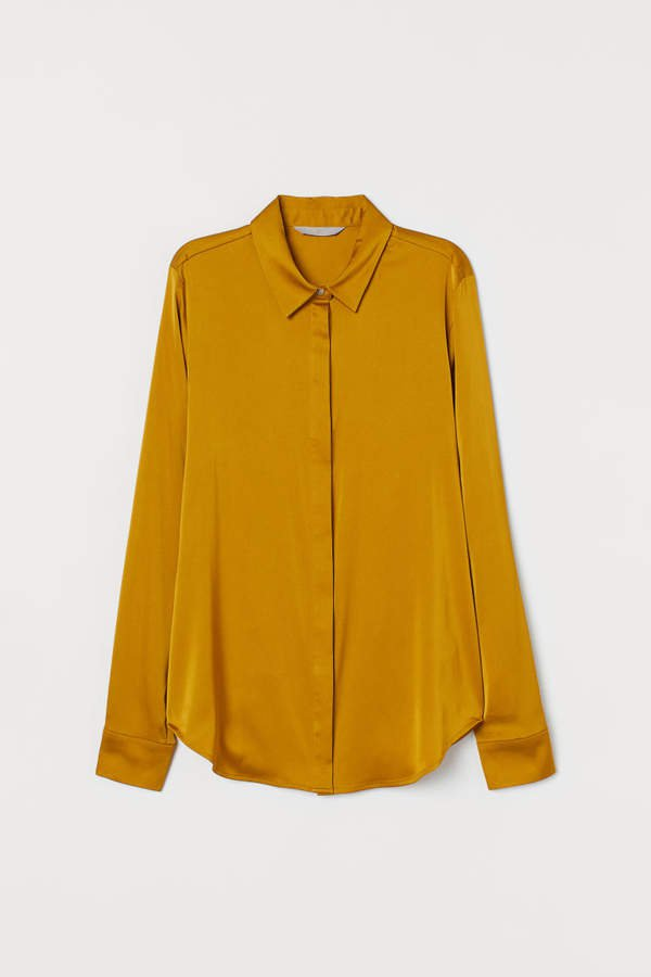 Long-sleeved Blouse - Yellow