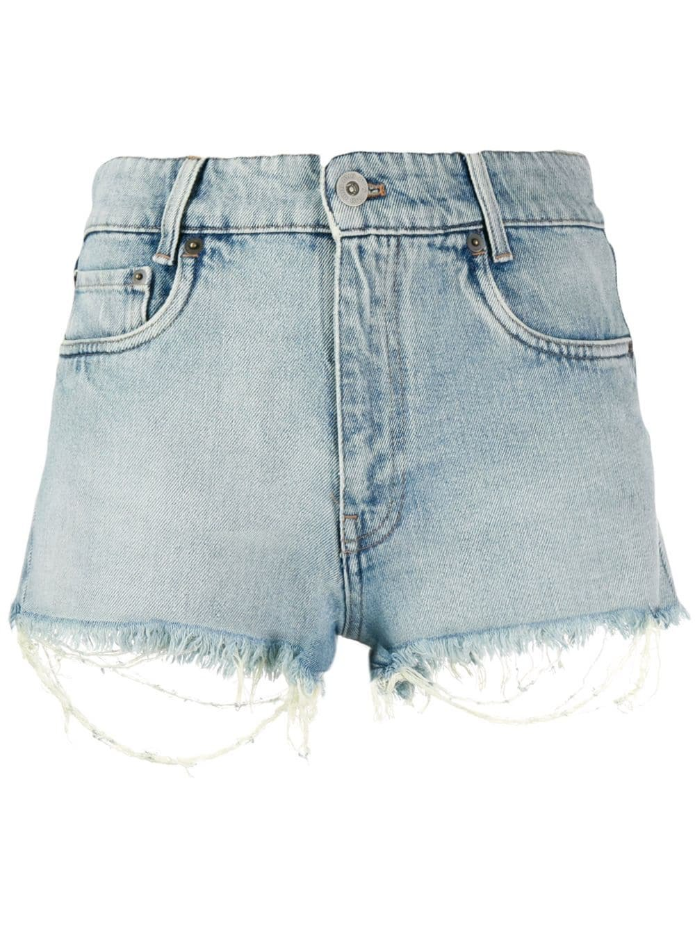 Blue Miu Miu Denim Shorts | Farfetch.com