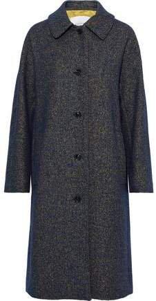Marled Wool-blend Coat