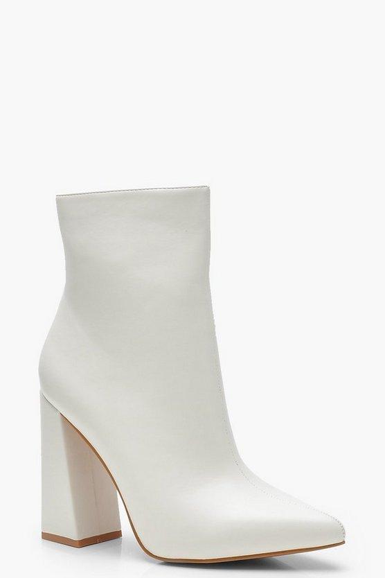 Flared Heel Sock Boots | Boohoo