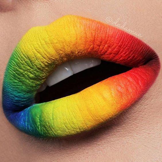 rainbow lips - Google Search