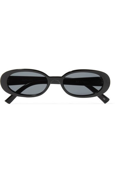 LE SPECS Outta Love oval-frame acetate sunglasses