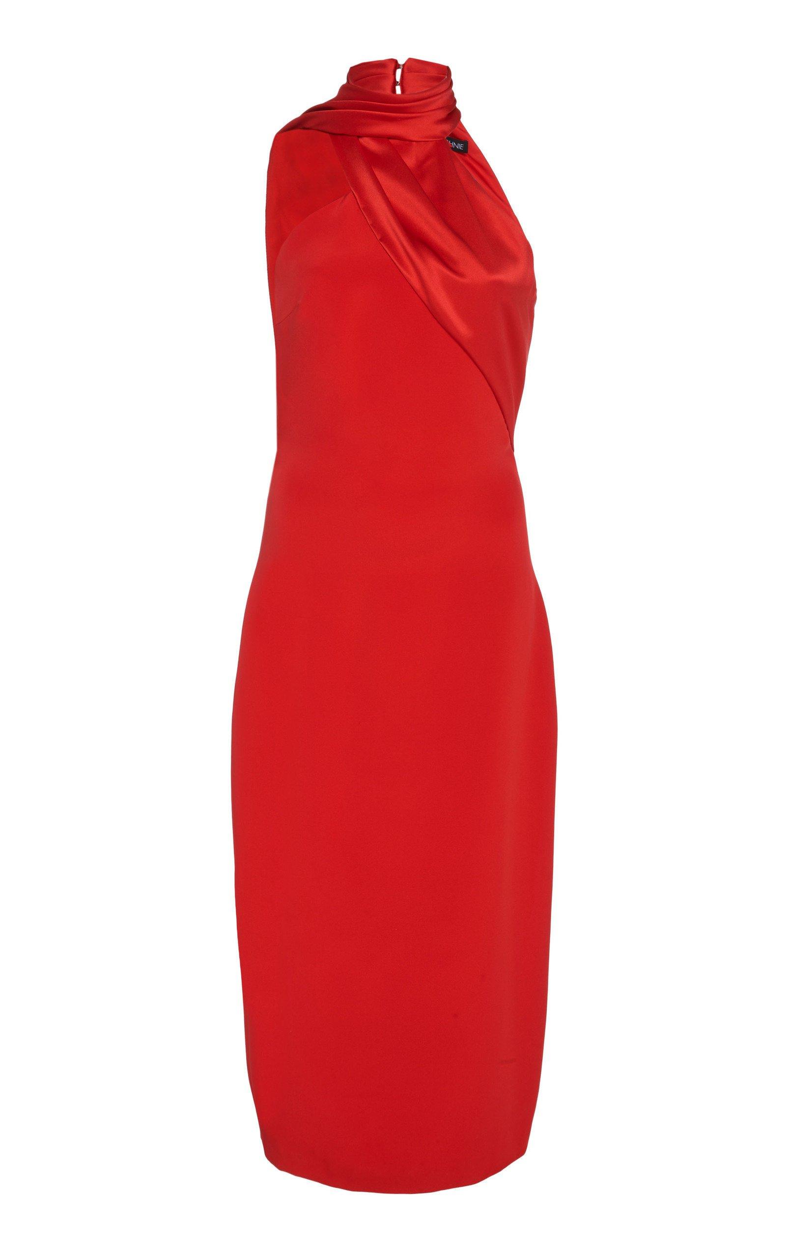 Cushnie- Halter-Neck Silk Dress