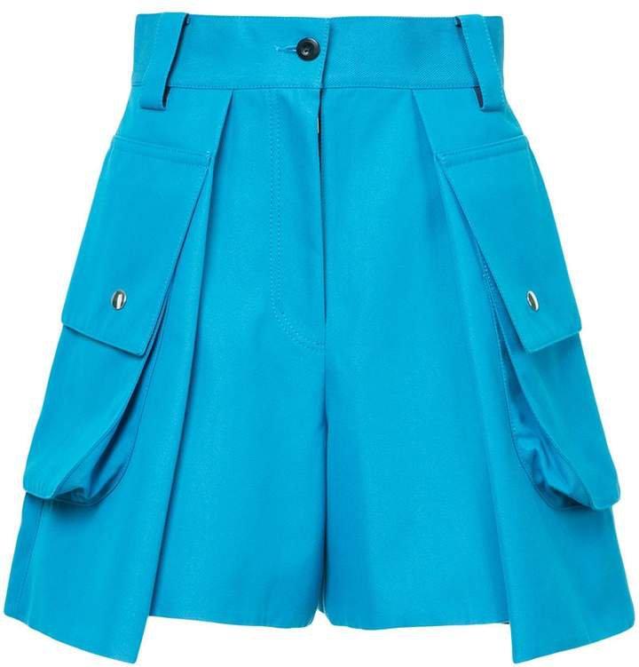 high-waisted cargo shorts