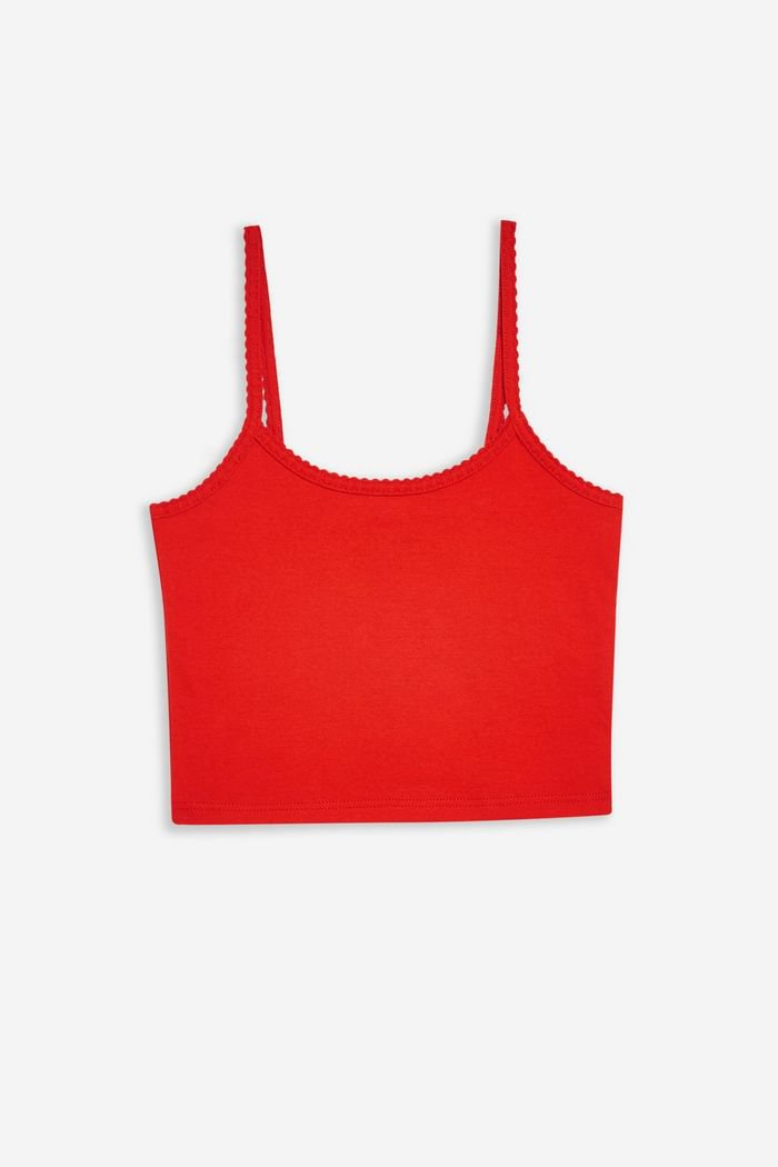 Red Scallop Camisole Top | Topshop