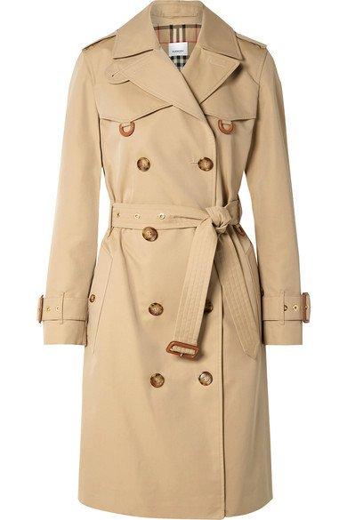 Burberry | Cotton-gabardine trench coat | NET-A-PORTER.COM
