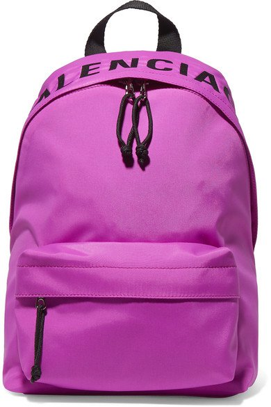 Balenciaga | Wheel embroidered shell backpack | NET-A-PORTER.COM