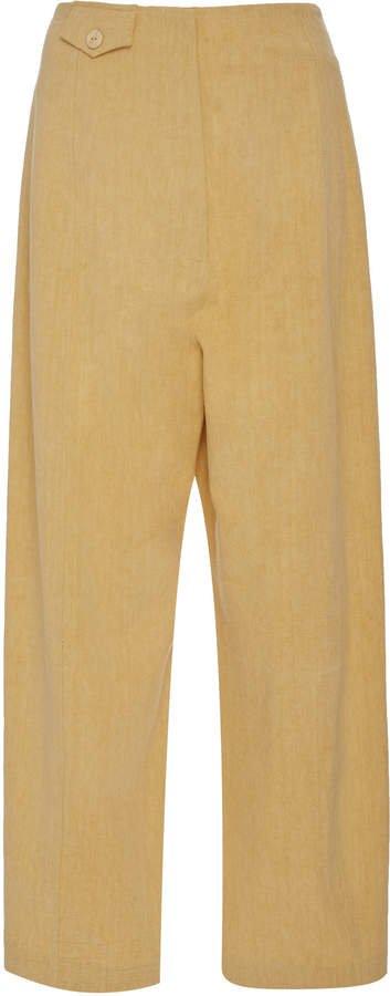 Cortes High-Rise Cotton Pants