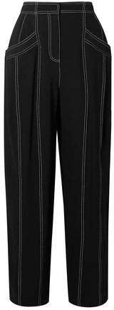 Paneled Crepe Tapered Pants