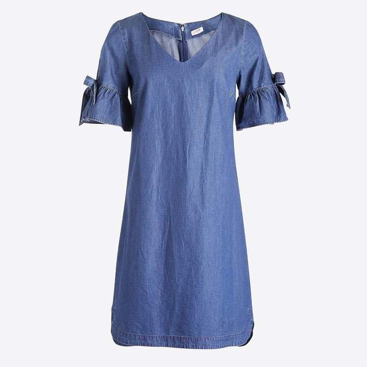 Tie-sleeve dress in denim