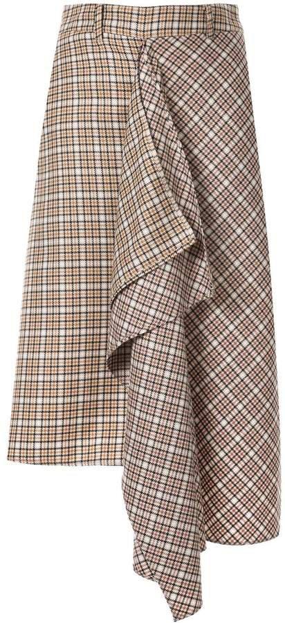 Blindness tartan check skirt