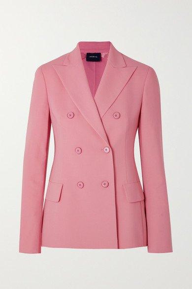 Akris   Genaro double-breasted wool-blend blazer   NET-A-PORTER.COM
