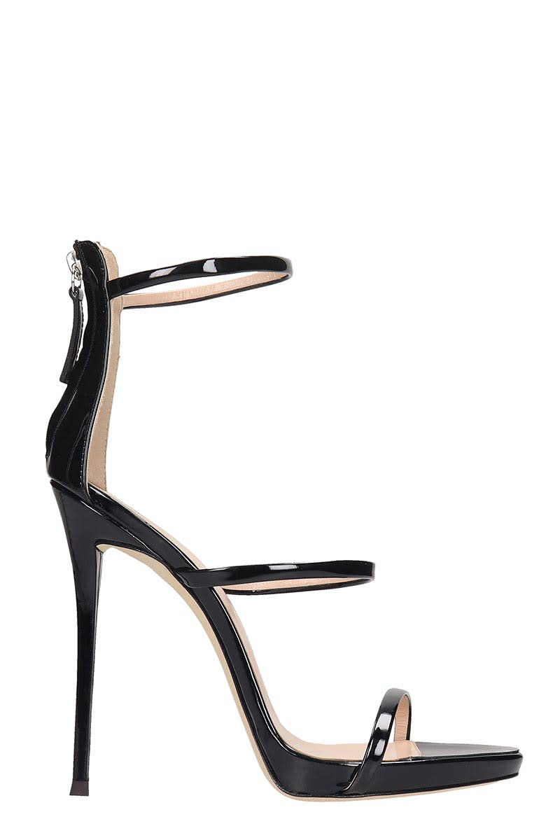 Giuseppe Zanotti Harmony Sandals In Black Patent Leather
