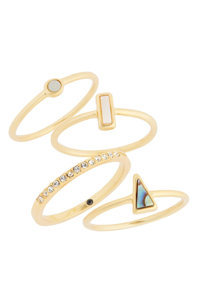 Madewell Stone Inlay Ring Set | Nordstrom