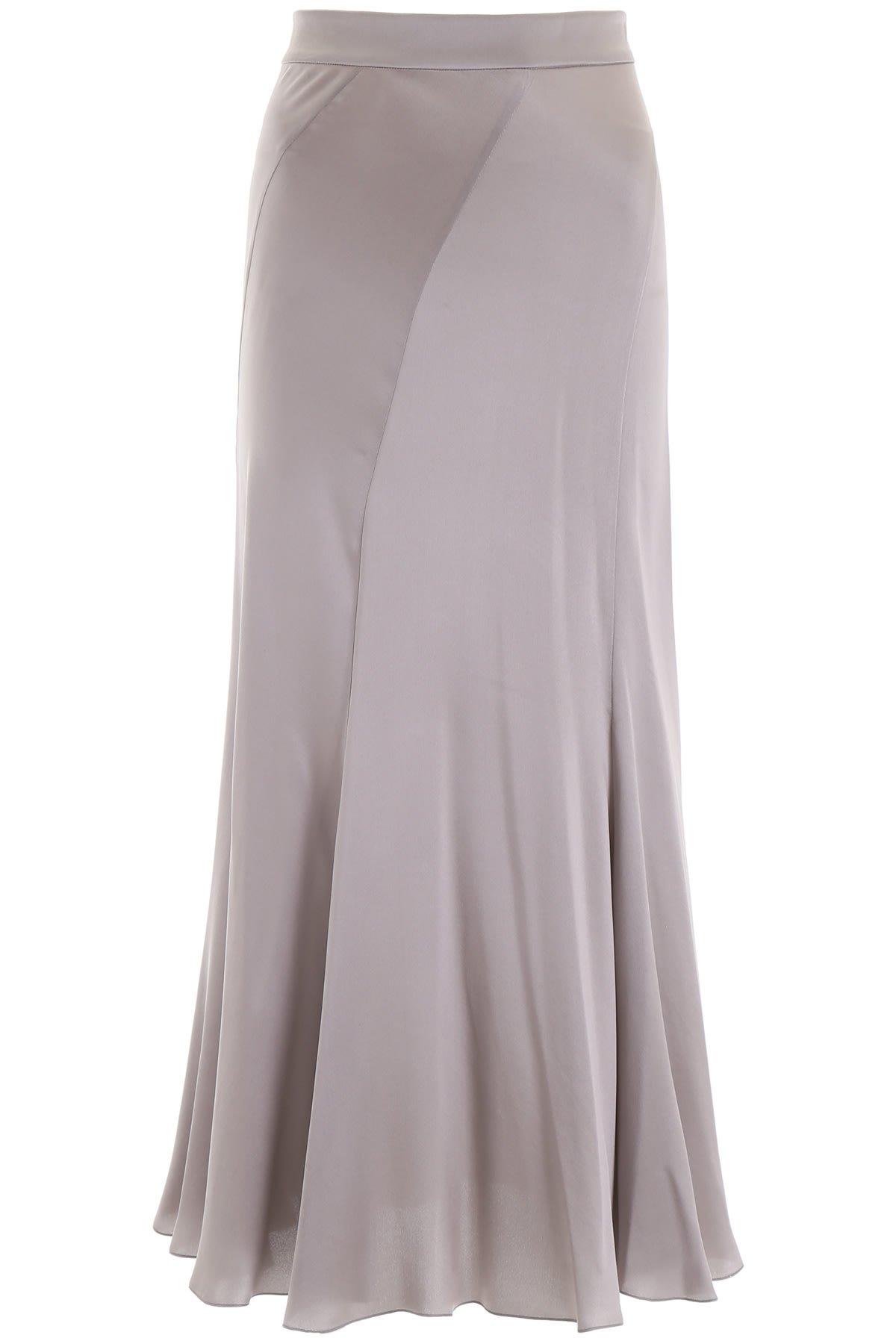Alberta Ferretti Silk Satin Skirt