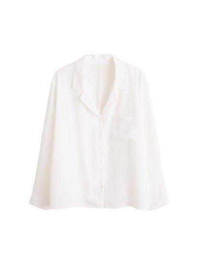 Violeta BY MANGO Pyjama-style pocket shirt
