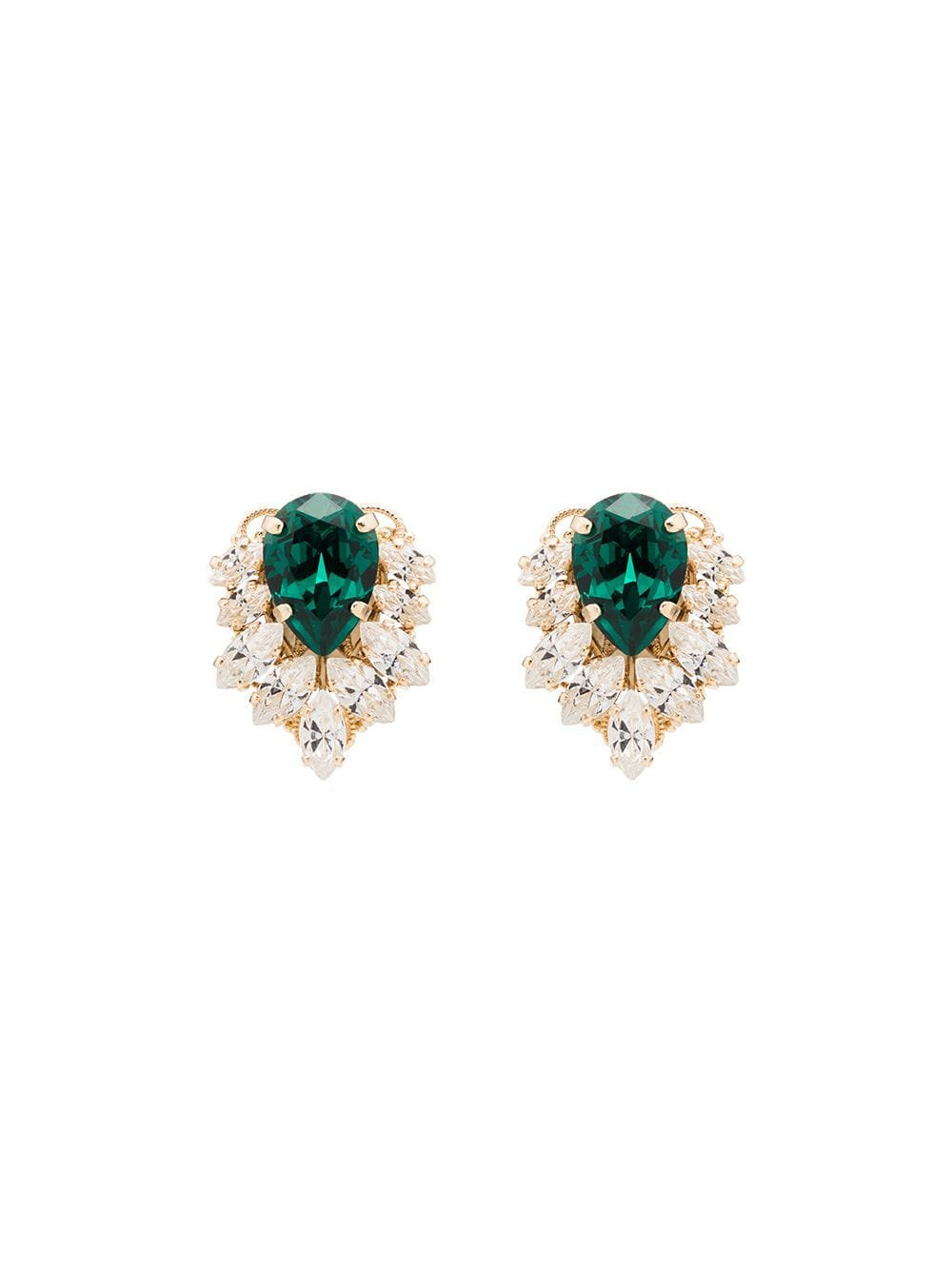 Anton Heunis crystal cluster earrings $105 - Buy Online AW19 - Quick Shipping, Price