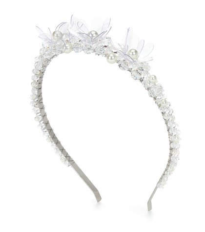 Crystal and faux pearl headband